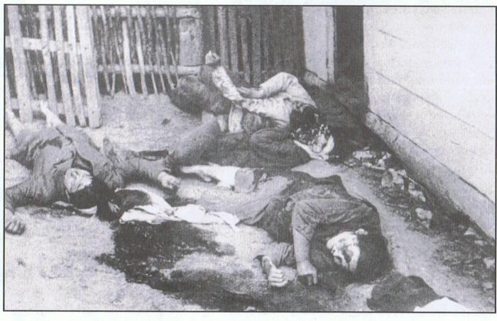 Село Верховина. Вбиті українці.