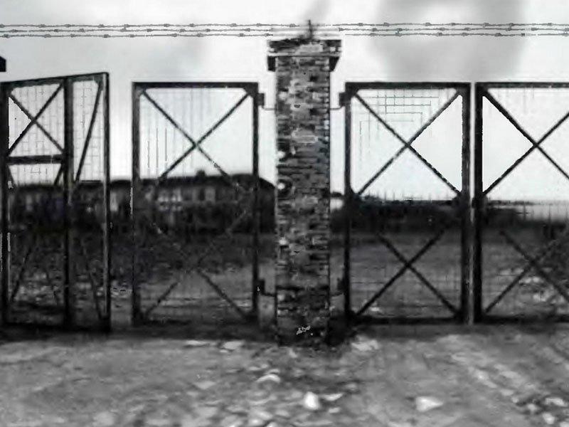 Центральні ворота в концтабір Явожно